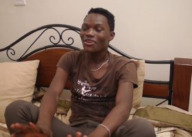 African Twink Nadir Jerks Off