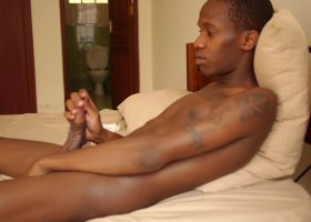 African Twink Sage Rayshon Beats Off