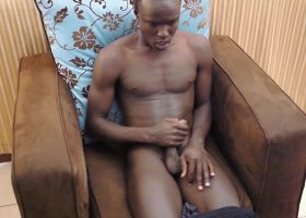 African Twink Micheal Stroking Big Cock